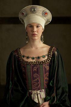 Joss Stone w serialu Dynastia Tudorów Ana De Cleves, Anne Of Cleves, Anne Boleyn, Dinastia Tudor, Los Tudor, Tudor Rose, Renaissance Mode, Renaissance Fashion, Tudor Costumes