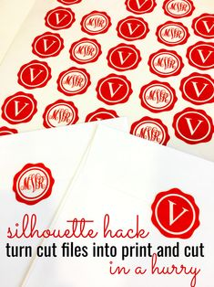 Silhouette Studio Hack for Turning Cut Designs into Print and Cut Stickers