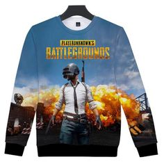 69f5feb8266 Games PUBG 3d Print Pullover Hoodies Sweatshirt Player Unknown