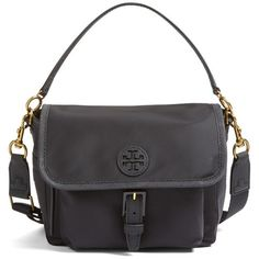 Women's Tory Burch Scout Nylon Crossbody Bag ($195) ❤ liked on Polyvore featuring bags, handbags, shoulder bags, black, nylon crossbody purse, nylon handbags, nylon crossbody handbags, crossbody shoulder bags and nylon purse