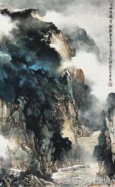 Chinese Landscape Painting, Landscape Drawings, Landscape Paintings, China Art, China China, Art Chinois, Traditional Paintings, China Painting, Art For Art Sake
