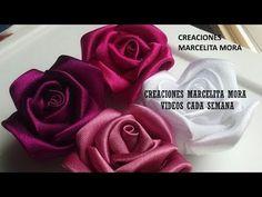 Como hacer una rosa de tela de dos colores // Rosa Loveluzlop // Fabric Flowers Roses - Loveluzlop - YouTube