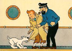 Tintin, Herge j'aime • Tintin, Snowy and Captain Haddock