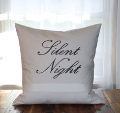Christmas Pillow 20 Linen Pillow Cover by AcornStreetBoutique, $32.00