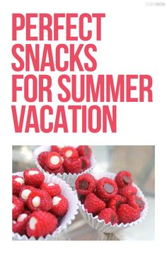These are the perfect healthy snacks to pack for vacation.