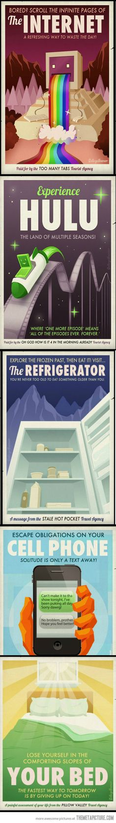 Travel posters for the lazy