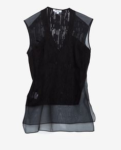 Helmut Lang Thread Bare Sleeveless Blouse