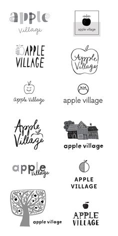 WIP: Apple Village Logo — June Letters Studio