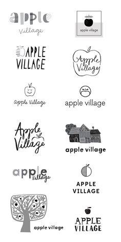 WIP: Apple Village Logo — June Letters Studio