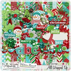 All Wrapped Up by Bella Gypsy Designs.  Great for digi scrapping your Christmas photos!