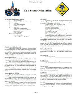 Akelas Council Cub Scout Leader Training: Cub Scout Orientation for New Cub Scouts and Parents