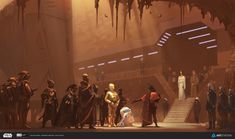 Star Wars Concept Artwork - Created by Pavel Goloviy Created for the ILM Star Wars Challenge, check out the full details here. Star Wars Rpg, Star Trek, Tableau Star Wars, Chasseur De Primes, Sci Fi Environment, Environment Design, Star Wars Concept Art, Star Wars Collection, Geek Art