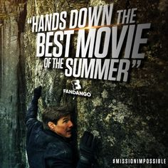 """calls Fallout the """"hands down best movie of the summer."""" See in theatres July Ving Rhames, Vanessa Kirby, Angela Bassett, Simon Pegg, Rebecca Ferguson, Mission Impossible, Weekend Vibes, Tom Cruise, Fallout"""