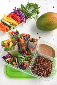 Mango Spring Roll Diet Smoothie Recipes, Smoothie Diet, Mango Recipes, New Recipes, Drink Recipes, Clean Eating, Healthy Eating