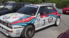 White Lancia Delta HF Integral Martini Racing - Stock Footage | by eZeePicsStudio
