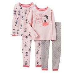 Just One You™ Made by Carter's® Toddler Girls' 4-Piece Mix & Match Ballerina Pajama Set $11.18