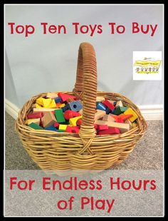 Top Ten Toys To Buy For Endless Hours of Play  HowToRunAHomeDaycare.com  Great list!