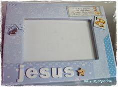 Mil y un enredos: Un marco para Jesús Scrap, Frame, Home Decor, Frames, Hand Made, Creativity, Picture Frame, Decoration Home, Room Decor