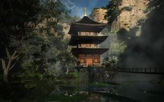 Japanese temple 3d Nature Wallpaper, Cool Wallpaper, Japanese Temple, High Quality Wallpapers, Wallpaper Downloads, Google Images, Oriental, House Styles, Awesome