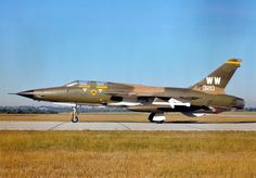 """F-105G Thunder Chief, the original """"Wild Weasel"""". I believe that this particular aircraft was stationed at George AFB in the late '70's, and there is a good chance that I did some work on it."""