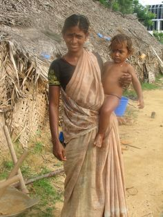 Mother and child in rural Tamil Nadu