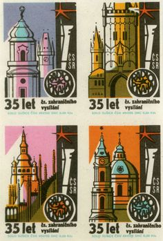 churches // Matchbox labels