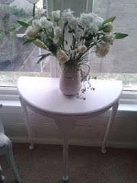 Lovely Shabby Chic Half Moon Table.