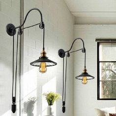 Find More Wall Lamps Information about Black retro vintage adjustable pulley length iron glass reading wall lamps e27 led lights sconce for bathroom bedroom office bar,High Quality e27 a19,China light Suppliers, Cheap light e27 from Newatmosphere Lighting Co., Ltd. on Aliexpress.com