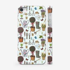 Чехол iPhone «Радости садовода. Паттерн.»
