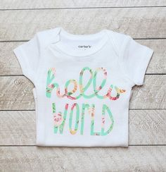 This bodysuit will be so cute on your Little One!! Made with high quality heat transfer vinyl! Makes the perfect gift and will be a hit at any