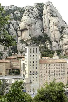 Montserrat is not only a sanctuary, but a monastery and a mountain. Montserrat Monastery and Mountain with Our Lady of Montserrat Spain, also known as La Moreneta Catholic News, Holy Land, Life Magazine, Our Lady, Pilgrimage, Mount Rushmore, Spain, To Go, Around The Worlds