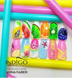 Summer Nails Design by Faber Dope Nails, 3d Nails, Spring Nails, Summer Nails, Dream Catcher Nails, Leto, Indigo Nails, Best Salon, Nail Art Galleries