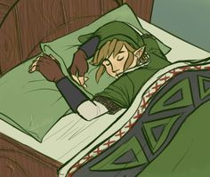Legend of Zelda | Bed time.  I find it hilarious that in Skyward Sword you can sleep in other people's beds and everyone is cool with it.