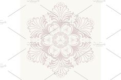 Damask Patterns, Arabesque, Vector Pattern, Oriental, Tapestry, Ornaments, Abstract, Floral, Pink