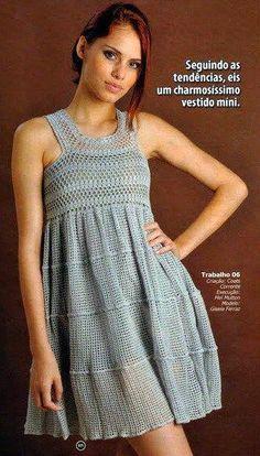Crochet by Yana — Страница 45 — Welcome, my dear crochet fans! Boho Crochet Patterns, Crochet Stitches, Crochet Cover Up, Knit Crochet, Crochet Blouse, Knit Dress, Beautiful Crochet, Crochet Clothes, Couture