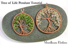 Miscellanea Etcetera: Free Jewelry Tutorial: Tree of Life Pendant. Nice tutorial includes how to make the loop form and bail.