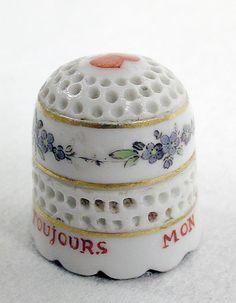 Thimble Date: ca. 1760 Culture: French Medium: Soft-paste porcelain
