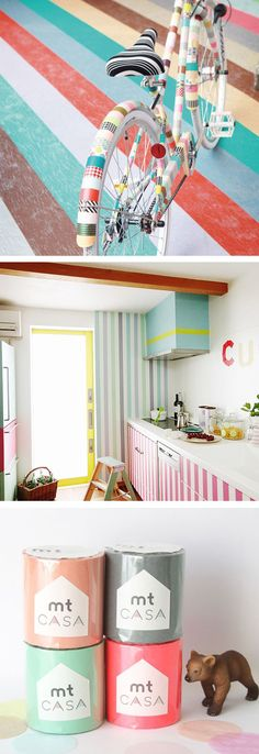 The @Laura Behnke Bedroom Project | Washi tape galore! Washi tape your walls! Or an accent wall!!!