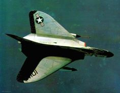 USN F4D1 Skyray VF-162 aboard the aircraft carrier USS Intrepid (CVA-11) in flight c.1961  Photographer unknown