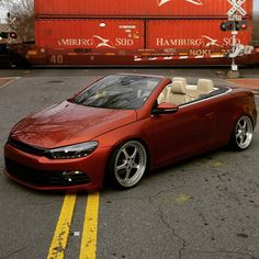 He nailed this, mad props! Scirocco Volkswagen, Convertible, Vw Cabrio, Vw Eos, Love Car, Modified Cars, Beetles, Supercars, Cars And Motorcycles