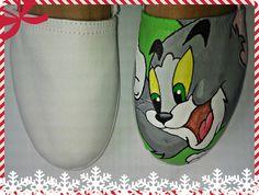 Zapatos pintados a mano de Tom y Jerry