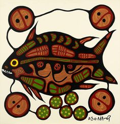 Fish by Norval Morrisseau