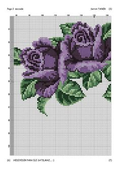 This Pin was discovered by Nes Butterfly Cross Stitch, Cross Stitch Rose, Cross Stitch Flowers, Cross Stitch Charts, Cross Stitch Patterns, Crochet Edging Patterns, Swedish Weaving, African Flowers, Rico Design