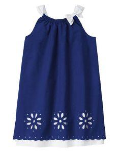 Gymboree Girls Size 4 Blue Safari Layered Eyelet Cotton Dress $50 NWT #Gymboree #Dressy