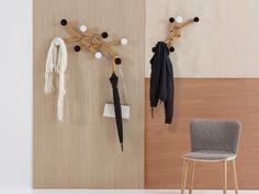 Wall-mounted wooden coat rack PAULI by SANCAL DISEÑO design Mark Bergold, Julian Jaeden, Martin Schmid