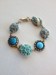 Vintage earring bracelet upcycled earring by ChicMaddiesBoutique, $35.00