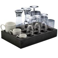 Mousse de rangement pour 12 verres ou tasses