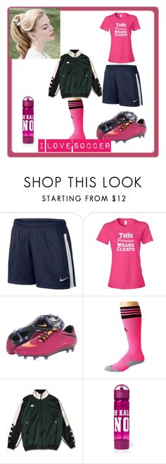 """Pink Soccer Outfit"" by kaitlynthestylist on Polyvore featuring NIKE and adidas"