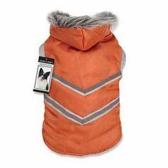 356f3aa22065 Zack and Zoey Arctic Reflective Dog Coat - Orange