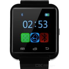 "U8 1.4"" TFT LCD Daily Water Resistant MTK6261 Android Bluetooth V3.0 Smart Watch - Black"